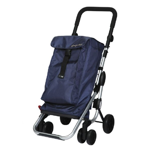 CARRO COMPRA PLEGABLE GO UP PROMO AZUL