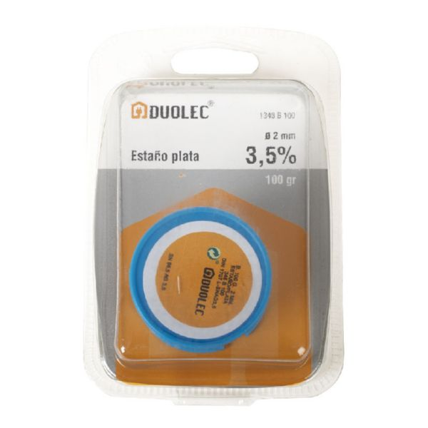 ESTAÑO PLAT.3,5% 2MM.100GR.DUOLEC